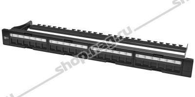 """Коммутационная панель SNR, 19"""" для модулей KeyStone, незагруженная, неэкранированная, 1U, 24 порта, cat.5e, ра"""