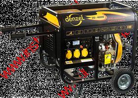 Генератор дизельный DD6300Е, 5,0 кВт, 220В/50Гц, 15 л, электростартер DENZEL
