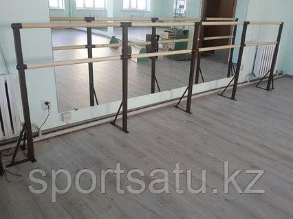 Хореографический (балетный) станок двухрядный - напольное крепление 6 метров