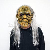 Латексная маска на хэллоуин старая ведьма 012