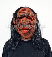 Латексная маска на хэллоуин гоблин 070