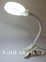 Настольная лампа с лупой на прищепке LED A808