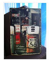 """Металлическая табличка в стиле Ретро """"трасса 66"""""""
