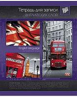 Тетрадь-Словарик для записи англ. слов 48л А5 оригин. блок Со справ.инф на склейке-Английский флаг-