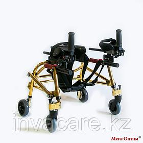 Ходунки для детей больных ДЦП HMP-KA 1200 с подлокотной опорой Мега-Оптим (высота 500 - 600 мм)