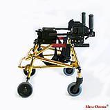 Ходунки для детей больных ДЦП HMP-KA 1200 с подлокотной опорой Мега-Оптим (высота 500 - 600 мм), фото 3