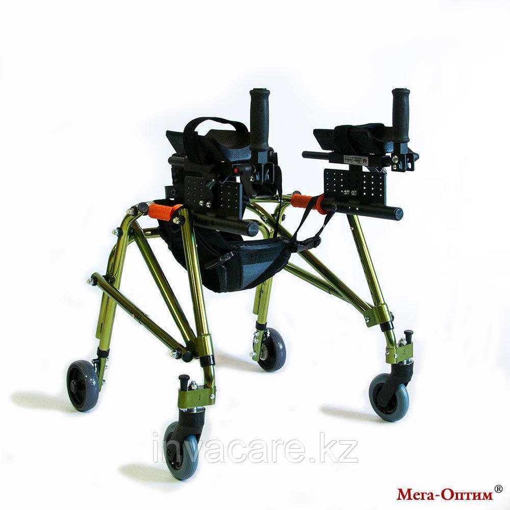 Ходунки для больных ДЦП  на 4-х колёсах HMP-KA 2200 с подлокотной опорой (высота 610-780 мм)