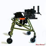Ходунки для больных ДЦП  на 4-х колёсах HMP-KA 2200 с подлокотной опорой (высота 610-780 мм), фото 2