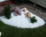 Белая мраморная крошка для ландшафтного дизайна, фото 6