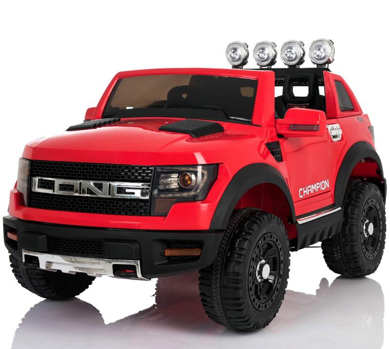Электромобиль детский Ford LONG, красный