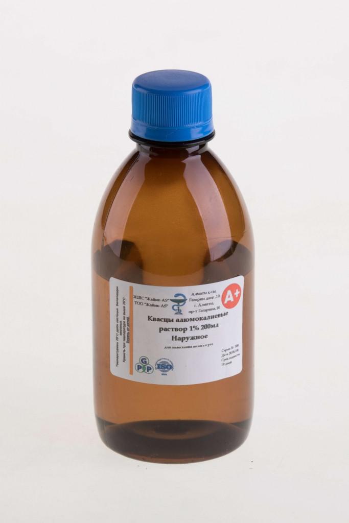 Квасцы алюмокалиевые 1% 200мл