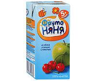 """Нектар """"Фруто Няня"""" яблочно-вишневый с мякотью  с 5 мес 200 мл"""