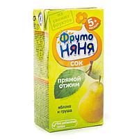 """Сок """"Фруто Няня"""" из яблок и груш прямого  отжима для питания детей раннего возраста с5 мес 200 мл"""