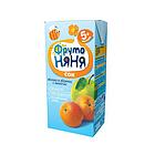 """Сок """"Фруто Няня"""" яблочно-абрикосовый с мякотью  для питания детей раннего возраста 200 мл"""
