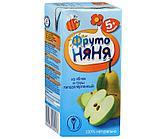 """Сок """"Фруто Няня"""" яблочно-грушевый с мякотью  для питания детей раннего возраста 200 мл"""