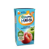 """Сок """"Фруто Няня"""" яблочно-персиковый для питания детей раннего возраста с 5 мес 200 мл"""
