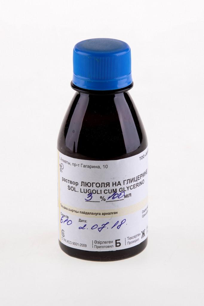 Люголя раствор на глицерине 3% 100мл