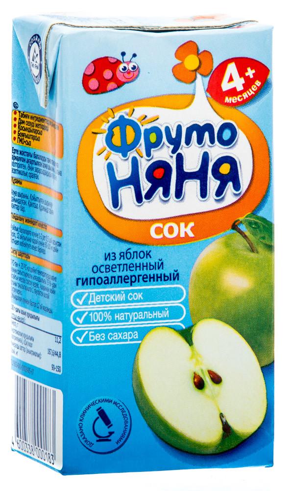 """Сок """"Фруто Няня"""" яблочный осветленный для  питания детей раннего возраста с 4 мес 200 мл"""