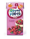 """Морс """"Фруто Няня"""" клюквенно-малиновый для  питания детей раннего возраста 200 мл"""