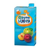"""Нектар """"Фруто Няня"""" яблочно-сливовый с мякотью для детского питанияс 3-х лет 500 мл"""