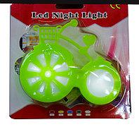 """LED ночник в розетку """"Велосипед"""", зеленый"""