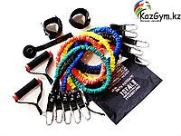 Набор эспандеров трубчатых в защитных чехлах (5 шт.) и аксессуаров в сумке (FT-EXSET-PRO)