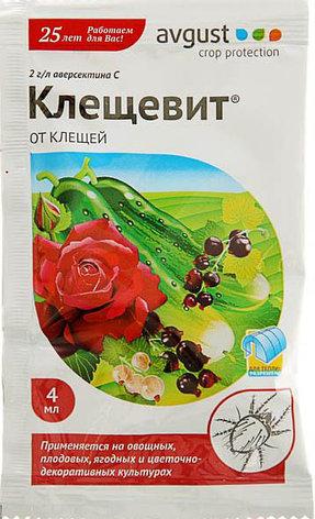 Средство от клещей на всех культурах и комнатных растениях Клещевит ампула в пак. 4 мл, фото 2