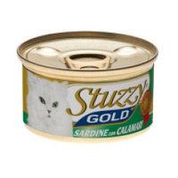 Stuzzy Gold консервы для кошек (кусочки сардин с кальмарами в собственном соку), 85 гр.
