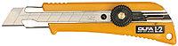 Нож OLFA с выдвижным лезвием эргономичный с резиновыми накладками, 18мм