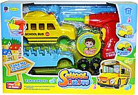 661-185 School Bus Автобус разбирайка с дрелью 38*27см