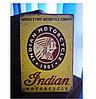 """Ретро табличка первая  Американская фирма мотоциклов """"indiana"""""""