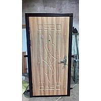Дверь стальная МДФ с двух сторон с комбинированной обналичкой