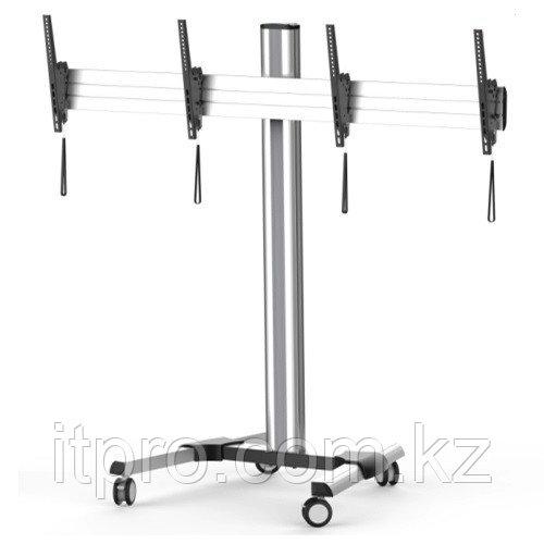 Стойка мобильная Brateck TTD02-46TW, 2xТВ или LCD-панели, 2x50кг