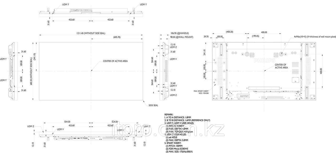 LED панель Philips 55BDL1005X/00