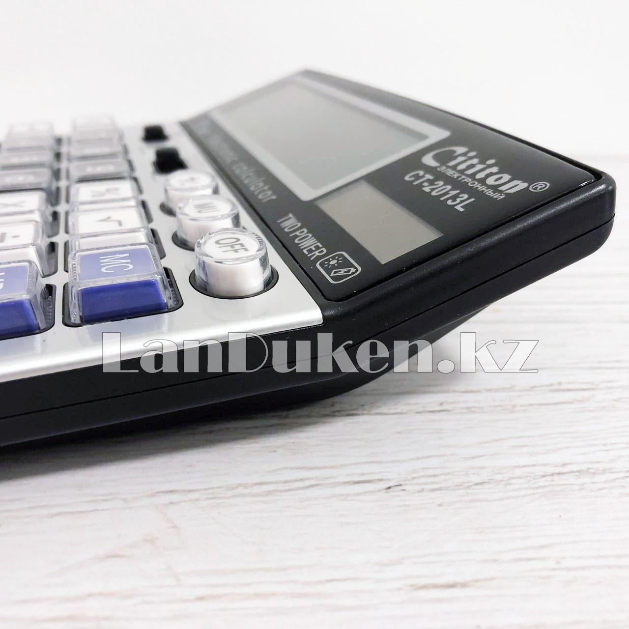 Калькулятор настольный 12-разрядный Cititon CT-2013L - фото 5