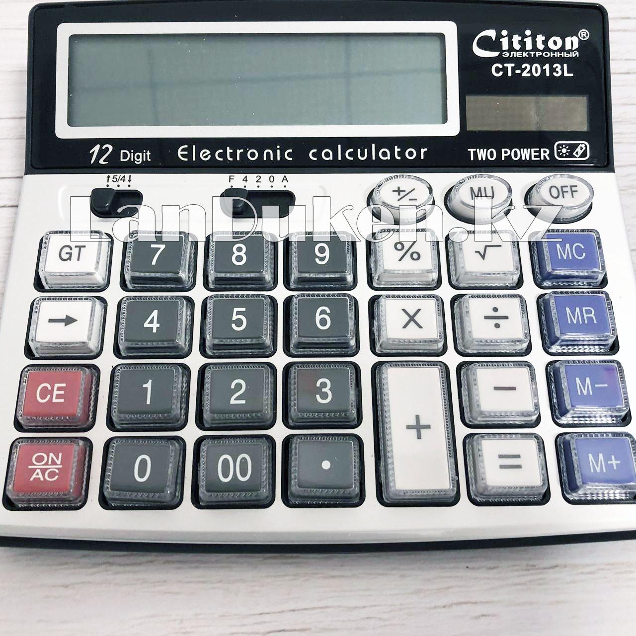 Калькулятор настольный 12-разрядный Cititon CT-2013L - фото 10
