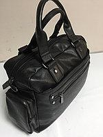 Дорожная сумка-саквояж из экокожи. Высота 29 см,длина 42 см,ширина 16 см., фото 1