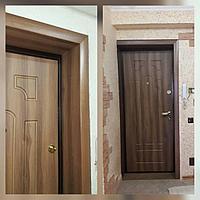 Дверь стальная снаружи металл, внутри МДФ с добором и обналичкой
