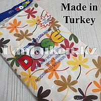 Чехол для гладильной доски DOSE 140х50 см белый с цветами