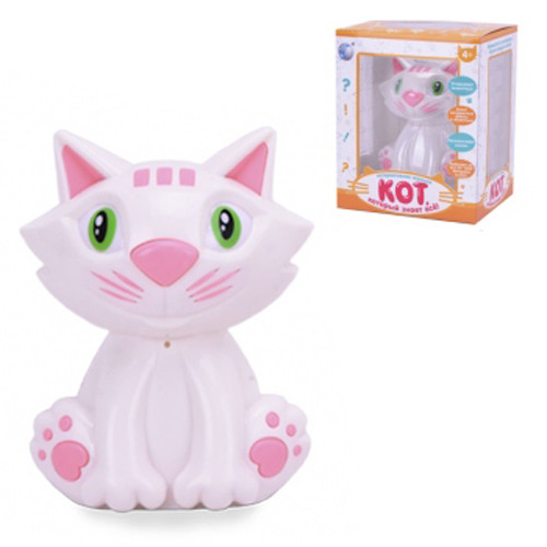 """Интерактивная игрушка """"Кот, который знает всё"""" розовый"""