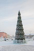 Уличная сегментная Елка каркасного типа высотой 11 метров для площади