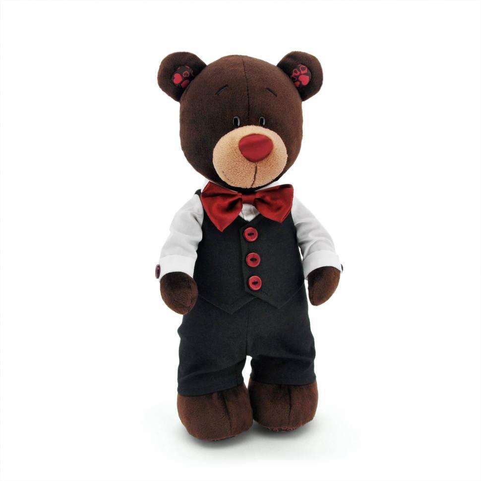 Мягкая игрушка медведь Choco жених, 35 см.