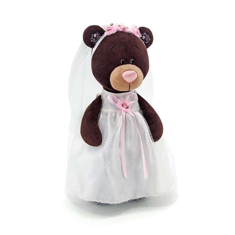 Мягкая игрушка медведь Milk невеста, 35 см.