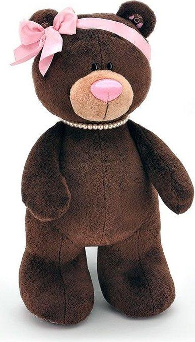 Мягкая игрушка медведь Milk стоячая, 25 см.