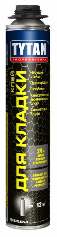 TYTAN EURO Pro Клей для кладки газобетона керамических блоков (870мл), серый