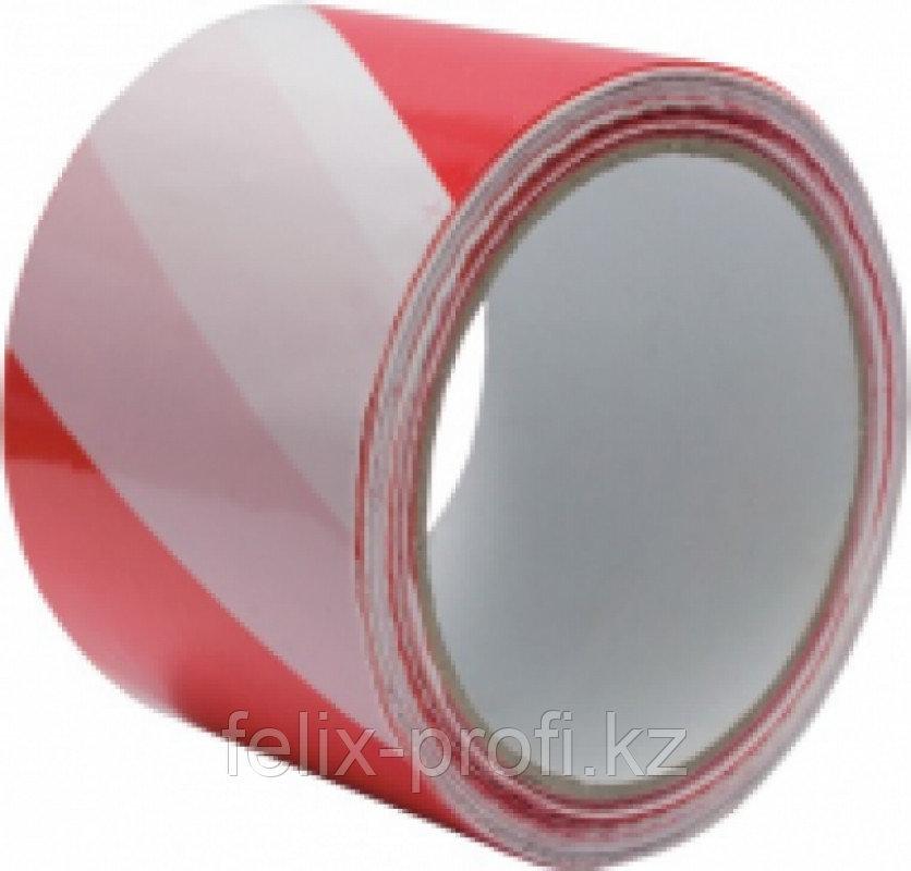 TYTAN лента сигнальная красно-белая 80 мм х 100 м
