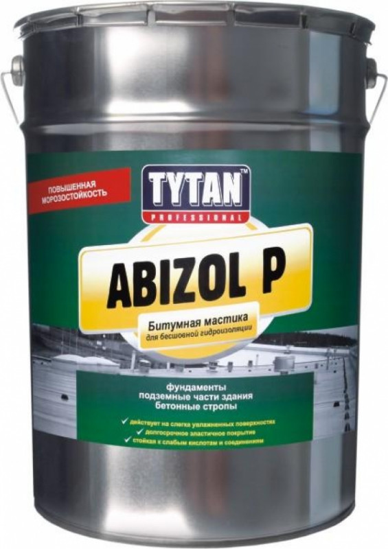 TYTAN ABIZOL P мастика битумная для бесшовной гидроизоляции (18кг)