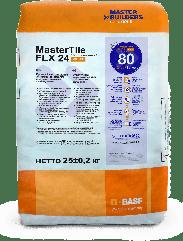 Эластичный, водоустойчивый, жаростойкий клей MasterTile  FLX 24 WHITE (Fleksmortel white)  25кг.