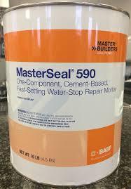 MasterSeal 590 (WATERPLUG) 5 кг ,гидроизол. ремонтный раствор  на цементной основе