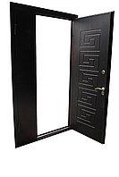 Дверь стальная двупольная снаружи металл внутри МДФ
